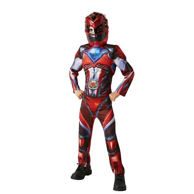 Disfraz Red Ranger movie deluxe para niño © en Dresoop